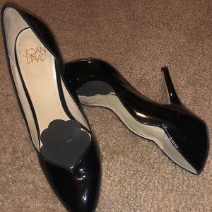 Joan & David black patent leather stilettos Sz 7.5